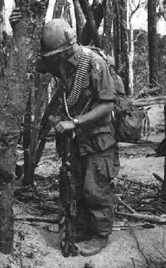 tired soldier in Vietnam